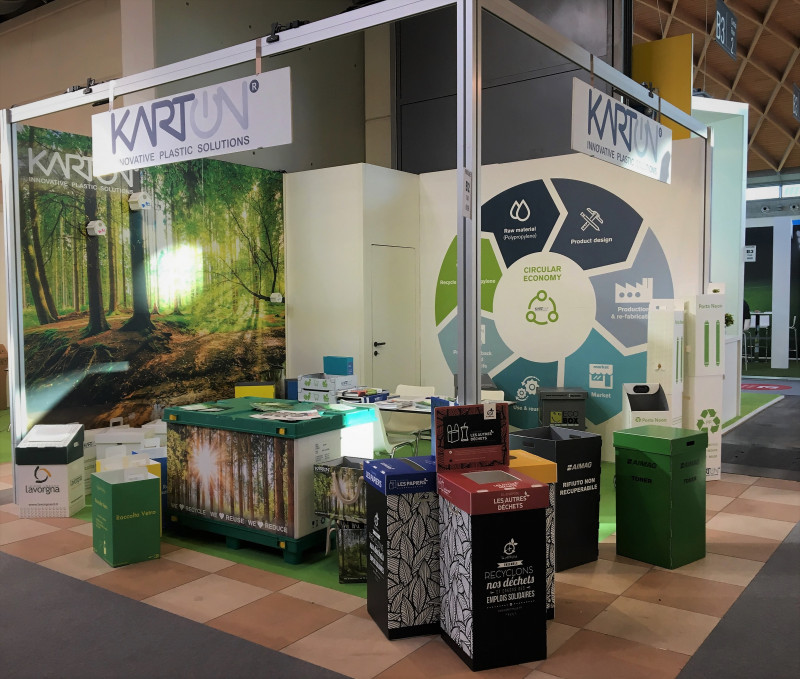 Karton presented its reusable and recycled packaging solutions at Ecomondo 2018